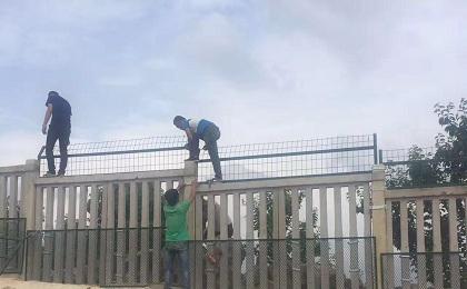 铁路防护栅栏安装